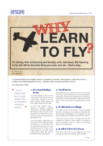 Why Learn To Fly A4