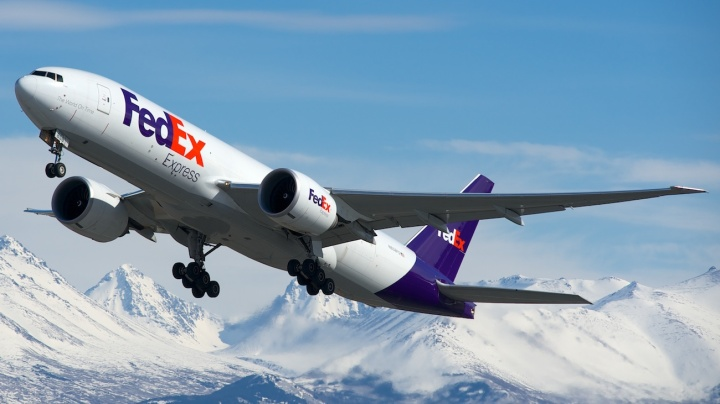 'Gina', or FedEx Boeing 777-FS2 (N858FD, cn 37729/936) was purchased brand new in 2011, showing the huge value of today's box hauling business. Here she departs from Runway 32 at Anchorage on April 26, 2013. Photo by BriYYZ via Flickr, CC BY-SA 2.0