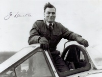 Test pilot Joe Lancaster, the first man to use an ejection seat in an emergency over Britain – unfortunately from an A.W.52.