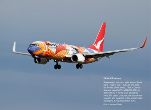 VH-VXB on very short finals into Adelaide. (airscape Photo)