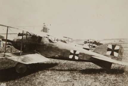A Luftfleigkreit Albatros D.II, 1917, location unknown. The D.III was grounded due to wing failure problems, so Richthofen was flying his D.II on the day Benbow shot him down. SDASM Archive #0074734