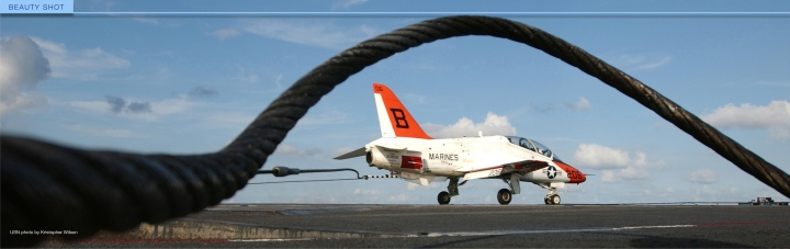 T-45 catches the wire