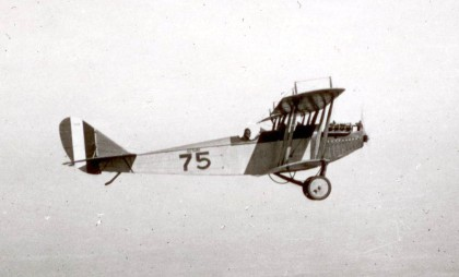 One Jenny flying one of thousands of WW1 US Army training flights. Photo by George Johnson, Aviation Section, US Army Signal Corps via wikipedia