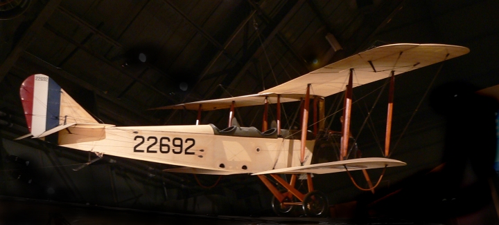The Curtiss JN4-D Jenny on display in the National Museum of the USAF, Wright-Patterson AFB, OH. Photo by Greg Hume CC BY-SA 3.0
