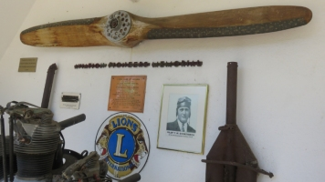 A reverse view across the artefacts on display. The Cooma Lions Club community group raised funds for the memorial, which was formally dedicated on October 13th, 1962. © Ken Watson