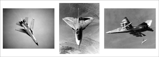 A really great trio of shots from the F-111A's flight and weapons testing program. (SDASM Photos)