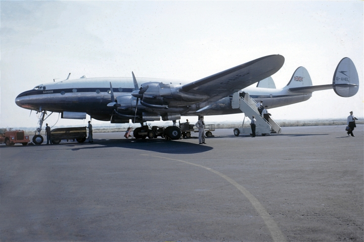 G-AHEL seen in 1951, wearing BOAC's new 'white top' livery and with her name simplified to just 'Bangor'. (Zoggavia.com)