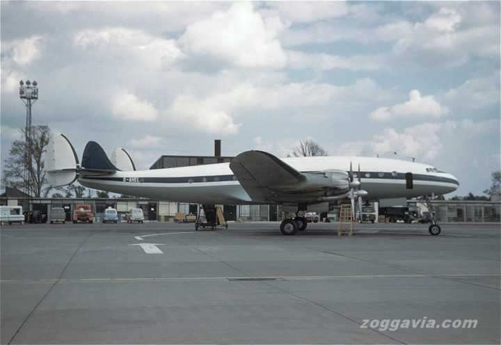 Still in Trans-European colours, less titles, 049-1977 is seen in June 1963 during her 18 months with Euravia. (Zoggavia.com)