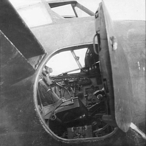 Come on up... looking through the crew door of a Mosquito Mk.XIII NF (Night Fighter), from February 1945. (AWM SUK13768)