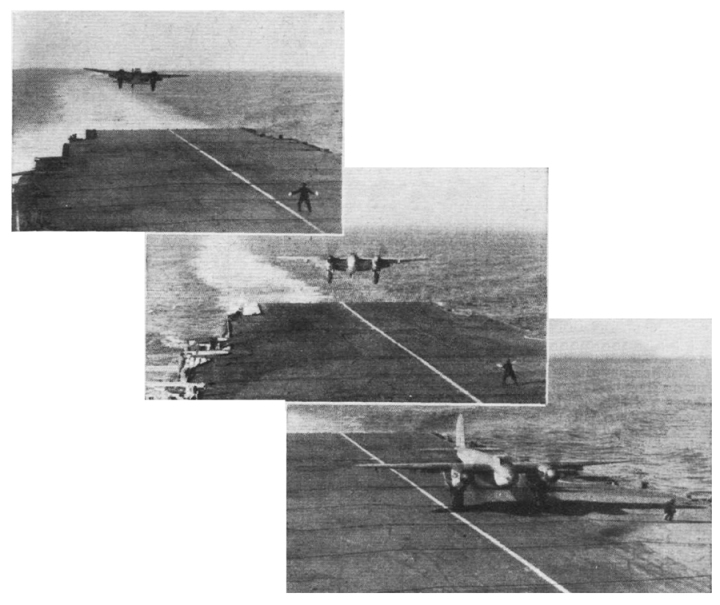 Watch the batsman... Pictures of the first Sea Mosquito deck landing in December 1946. (Flight magazine, February 28th, 1946)