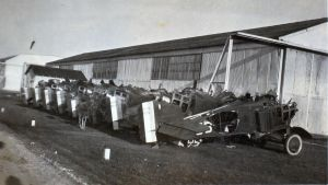 The other end of the line... Gutted and filleted MB-3As meet the end of their service lives. Most were withdrawn in 1926. (SDASM, Douglas Kelley Photo Album, AL8_Douglas_000090)