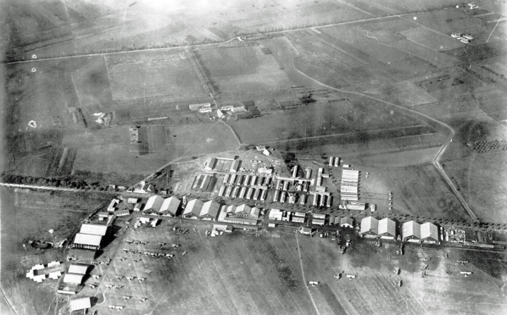 The 'Camp at Tours' – the US Air Service's 2nd Air Instruction Centre –where Jack Wright received his initial flight training, before graduating to pursuit training at either Issoudun (3rd AIC) or Avord (4th AIC). (Wikipedia)