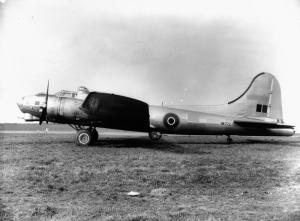 Fortress Mark III, HB773 (B-17G-40-BO 42 97110) only flew a couple of missions with Coastal Command in February 1944, before being transferred to the 8th USAAF on March 22nd. She survived the war and was scrapped in the US in January '46. (IWM ATP 12691C)