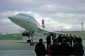 British Airways officials take delivery of their first Concorde, G-BOAA (#206) on January 15th 1976. It flew the first commercial Concorde service (to Bahrain) six days later. (Steve Fitzgerald | airliners.net GFDL 1.2)