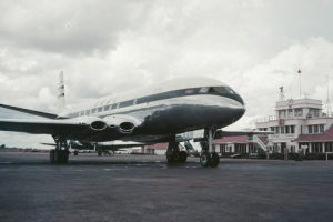 Designed during World War 2 and first flown four years later, this is the jet airliner that started it all – the DH106 Comet.