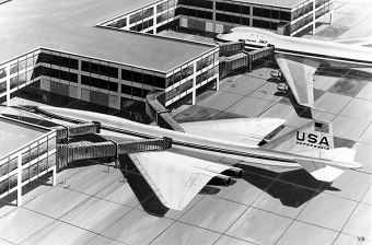 Look! You can see the future from here. A 1968 Boeing illustration shows the future it imagined, alongside the future it built. (James Vaughan | flickr.com CC BY-NC-SA 2.0)