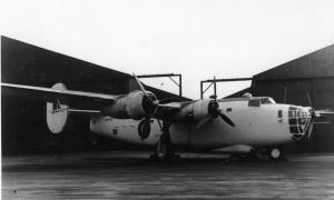 One of the first Liberator Mk.Is in RAF service, AM916 joined Coastal Command on December 17th, 1941. She performed Atlantic patrols until 1944, was partly converted to passenger service for BOAC before being reduced to spares, with her hulk being sold as scrap for £20 in March 1952. (Thanks to RAFb24.com for the info.) (SDASM 01_00092059)
