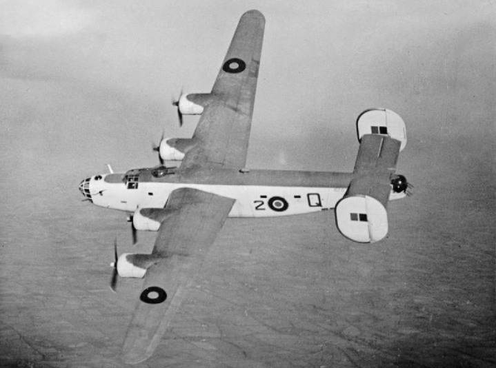 A Coastal Command Liberator GR.V of 86 Squadron RAF, shows off it's high aspect ratio Davis wing. The efficiency of the wing added to the Liberator's famous range, if not its overall handling. (IWM CH 11800)