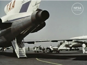 A fond memory for many, TAA Boeing 727s take on passengers in 1966. They'd entered Australian service just two years earlier.