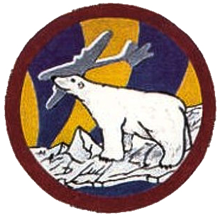 "Squadron patch of the 58th Strategic ('Weather' from Feb 15th, 1954) Recon. Squadron, ""The Pole Vaulters"". (wikipedia)"