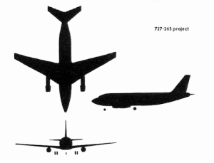 Future 737? Twin, wing mounted engines. Design project 727-265