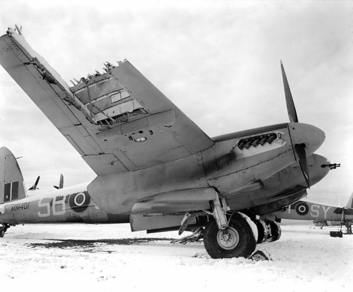 MM401 'SB-J', of No. 464 Squadron RAAF, at Friston ELG on February 21st, 1944.