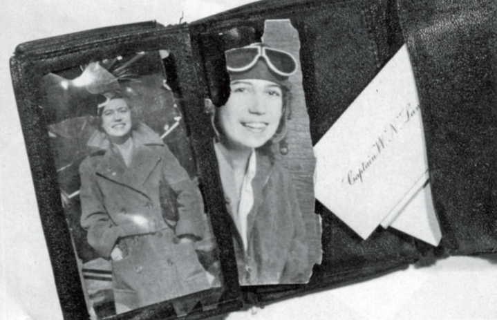 The contents of Lancaster's recovered wallet – with pictures of Chubbie clearly showing his enduring love for her. (© Estate of Ralph Barker)