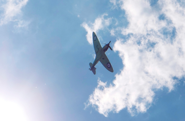 A genuine Battle of Britain veteran, Spitfire Mk.IIa 'P7350' of the Battle of Britain Memorial Flight, RAF. (Meg Vaughan | flickr.com CC-BY 2.0)