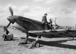 Spitfire at RAF Gravesend