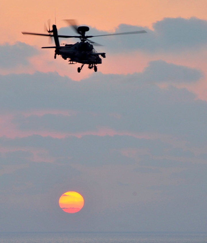 Apache over the Mediterranean