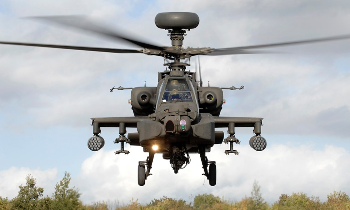 Apache Helicopter front