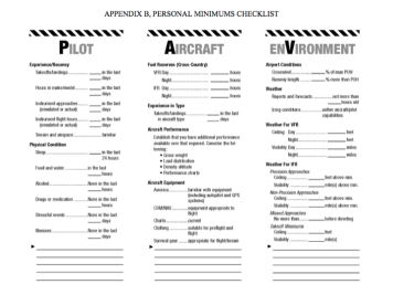 The 'real' PAVE – a full checklist for every flight. (FAA)