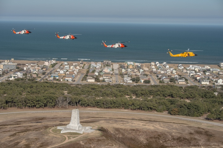 Coast Guard helicopters, Kitty Hawk