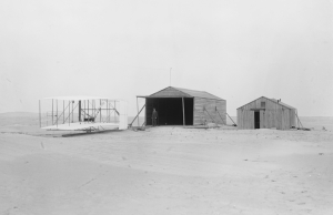 Wright brothers Kitty hawk camp, 1903