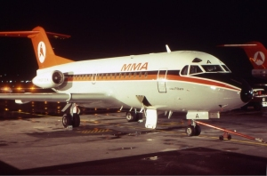 From WW1 beginnings...MacRobertson-Miller Fokker F28-1000 VH-FKA at Perth in the early 1970s. (John Wheatley | wikipedia GNU 1.2)