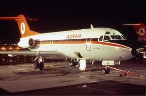 From WW1 beginnings...MacRobertson-Miller Fokker F28-1000 VH-FKA at Perth in the early 1970s. (John Wheatley | wikipedia GNU 1.2)