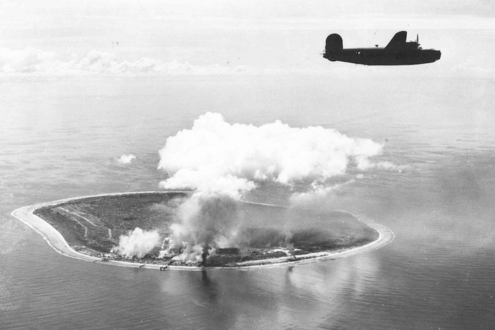 B-24 attacks Nauru