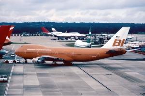 Braniff 747 Big Orange