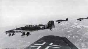 Junkers Ju.87 Stukas over Yugoslavia