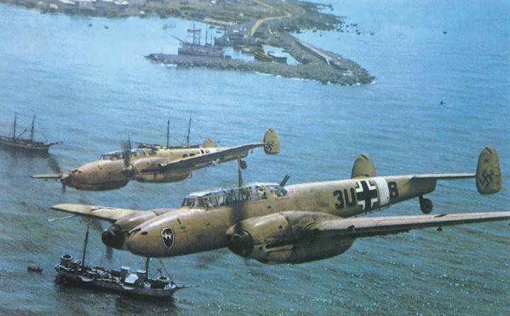Messerchmitt Me.110Ds over Tripoli