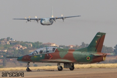 Designed in China by Nanchang and built by Hongdu, this JL-8 (cn 2703J) serves as one of the Air Force of Zimbabwe's 10 Karakorum K-8 jet trainers. (© Niel Swart)