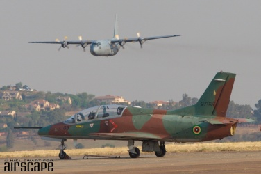 Designed in China by Nanchang and built by Hongdu, this JL-8 (cn 2703J) serves as one of the Air Force of Zimbabwe's 10 Karakorum K-8 jet trainers. (© Niel Swart)