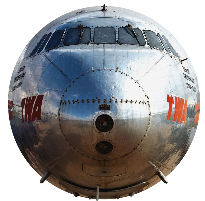 Still showing the scars from a hailstorm, former USAAF C-69 42-94549 and TWA L-049 Constellation 'Star of Switzerland' N90831, ,cn 1970, now preserved at Pima Air & Space Museum. (Manolo Chrétien)