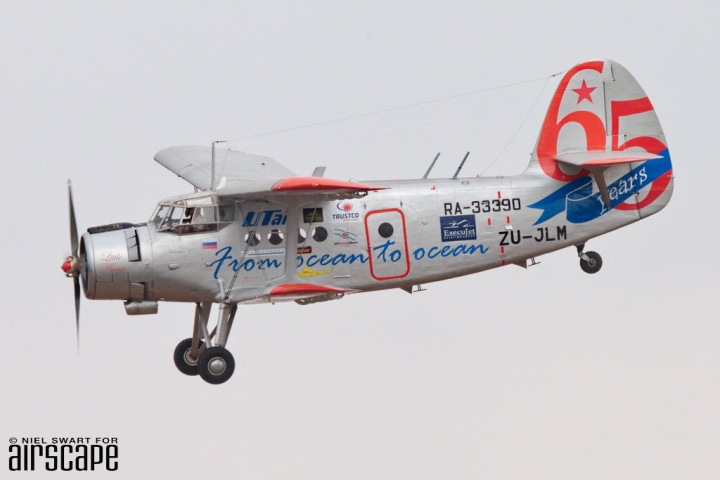 "Awesome plane, awesome mission – Just Love's Antonov An-2 ZU-JLM ""Little Annie"" (cn RA-33390) is used to share joy, hope and aid to communities across southern Africa. (© Niel Swart)"