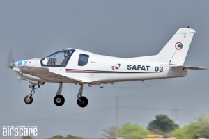 Made in Sudan, the all metal SAFAT03 – a very handy trainer, glider tug and light utility two-seater. (© Niel Swart)