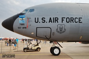 Based at historic Tinker AFB, Oklahoma, KC-135R of the 507th Air Refuelling Wing, 465th Air Refuelling Squadron, USAF. (©Niel Swart)