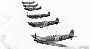 No.65 Squadron RAF, based at Hornchurch, show off their new Spitfire Mk.Is in 1939. FZ-L, K9906, was one of their first. Relegated to training duties in 1940, it was written off after an engine failure in October that year. (SDASM #01-88563)