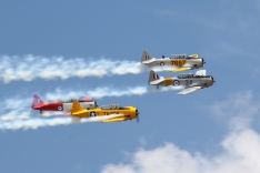 The ubiquitous (more than 17,000 built counting NA-16s) T-6 Texan/SNJ/Harvard – in this case with the Southern Knights display team. (© airscape photo)