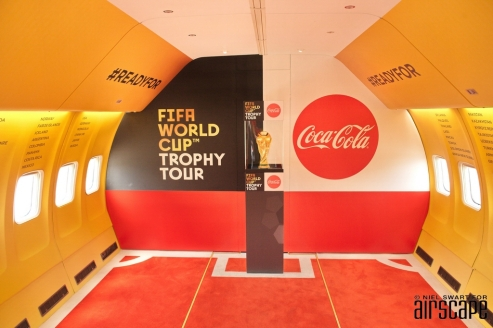 One seriously world-famous passenger – the FIFA World Cup™ Trophy.