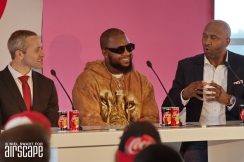 Brad Ross (Coca-Cola), Casper Nyovest ('Colours' co-writer) and Lucas Radebe (Football Legend)